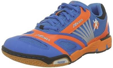 Kempa Cyclone 200847301, Unisex-Erwachsene Handballschuhe, Blau (kempablau/fluo orange/sch), EU 39 (UK 3.5)