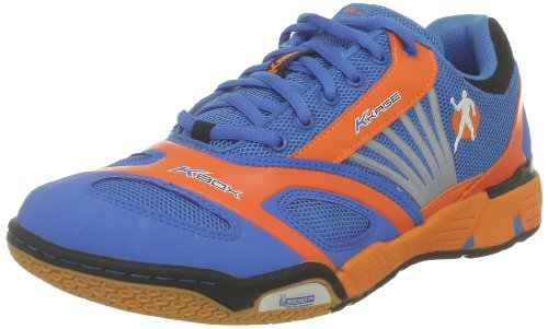 Kempa Unisex - Adult Cyclone Handball Shoes Blue Blau (kempablau/fluo orange/sch kempablau/fluo orange/sch) Size: 40.5