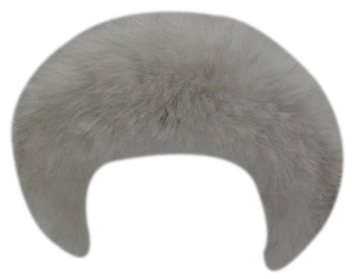 Bergama Natural Blue Fox Headband - White