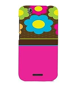 PrintVisa Flower Pattern 3D Hard Polycarbonate Designer Back Case Cover for Acer Liquid Jade Z630