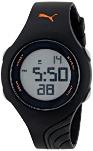 PUMA Women's PU911092002 Twist S Black Digital Display Quartz Black Watch