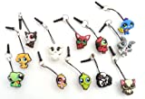 Dust Plug Phone Charm Set of Funny Animals Pets #2 - 12 pcs for cell phone iPhone iPad mobile device tablet