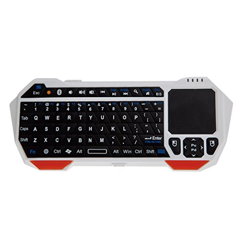 Voberry® Newest Hot Sale Portable Mini Wireless Bluetooth Touchpad Keyboard For Windows Android Ios Smart Tv Tablet(White)