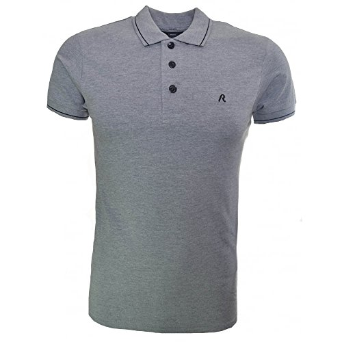 Replay Polo da uomo grigio Grey XX-Large
