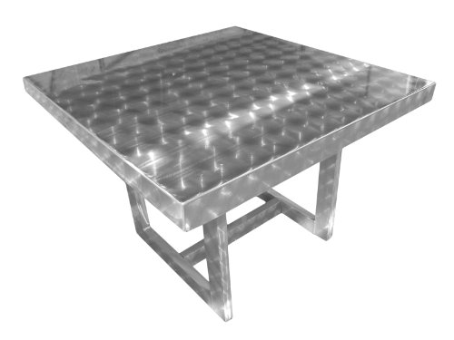 Ofab Custom Theme Tables 42-Inch Square Restaurant Table, Silver
