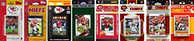 NFL Kansas City Chiefs 8 Different Licensed Trading Card Team Sets
