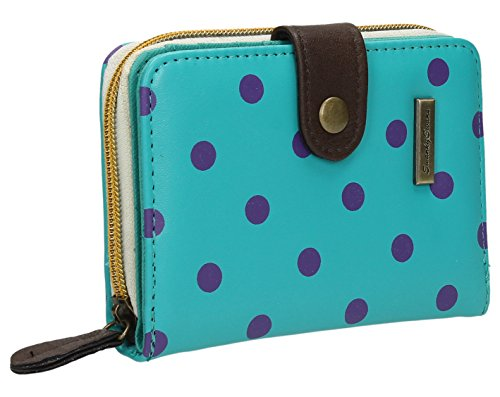 Bella Small Bi-fold Polka Dot Wallet Turquoise