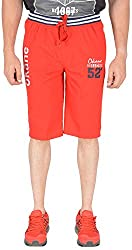 Okane Men's Cotton Lounge Shorts (Ls-52924 Red _L, Red, L)