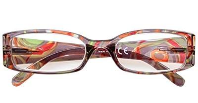 4-Pack Beautiful Colors Spring Hinge Rectangular Reading Glasses