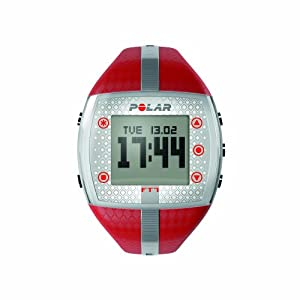 Polar FT7F Heart Rate Monitor and Sports Watch - Red/Silver
