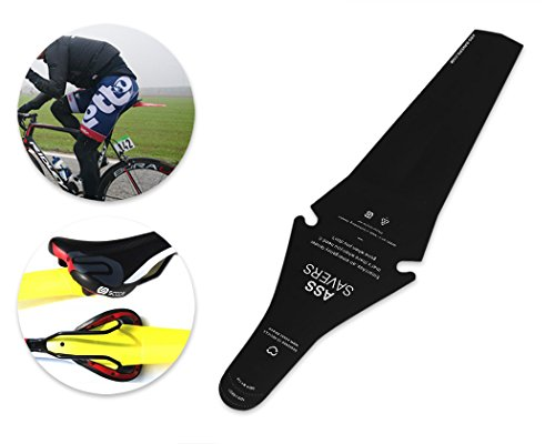BOS Foldable Saddle Mudguard Rear Seat Mud Flap Fender for MTB Mountain Road Bike - Black (Mtb Mud Flap compare prices)
