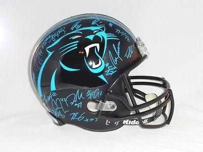 Carolina Panthers Team Signed Full Size Helmet 40+ Sigs Kuechly Cam - PSA/DNA Certified - Autographed NFL Helmets