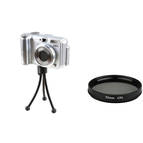 eForCity 52mm Lens Filter + Retractable Tripod for 52mm lens Cameras
