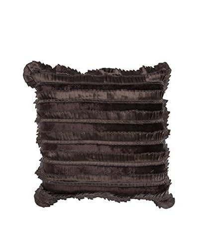 Cloud 9 Ruffled Throw Pillow, Chocolate