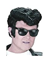 grease elvis per cke mit haartolle schwarz. Black Bedroom Furniture Sets. Home Design Ideas
