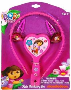 Dora the Explorer By Nickelodeon Accessories Set (Headband, Brush & Snaps) - 1