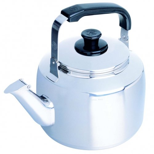 1 Liter Zebra Polished Mirror Finish Stainless Steel Canister Stovetop Teakettle Tea Kettle Teapot, Gas Electric Induction Compatible (Zebra Teapot compare prices)