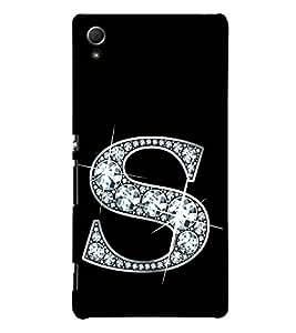 Alphabet S 3D Hard Polycarbonate Designer Back Case Cover for Sony Xperia Z4