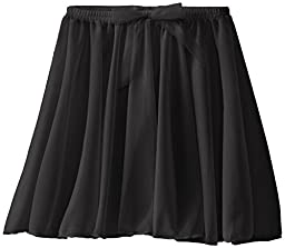 Capezio Little Girls\' Children\'s Collection Circular Pull-On Skirt, Black, Small