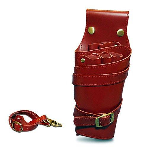 Wien 高級本革 シザーケース キュートな細身仕上 女性向け ハサミ 5丁収納 美容師 トリマー プロ専用 業務用シザーバッグ