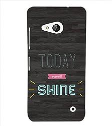 Fiobs Today you will shine Back Case Cover for Lumia Lumia 550::Microsoft Lumia 550