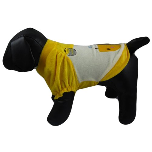Alfie Couture Designer Pet Apparel - Perry Bee T-Shirt - Color: Yellow, Size: L front-818923
