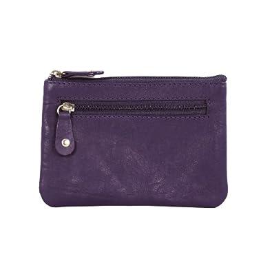 Fashion Multi-purpose wallet with Key Chain in Purple Color Design