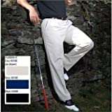 Stromberg Men's Plain Easy Care Classic Golf Trousers - Ecru - 38-31