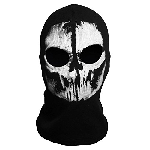 "Angelo Caro? Tour de Cou Masque Cagoule ""Ghost Tete de Mort"" - Couleur Call Of Duty Modern Warfare - Airsoft Paintball Moto Outdoor Couleur 8"