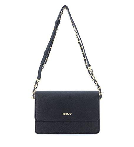 Borsa tracolla DKNY in pelle saffiano nero