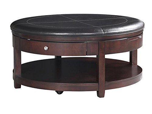 Magnussen Brunswick Wood Round Cocktail Table