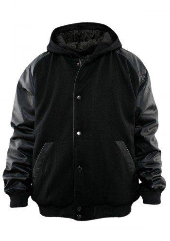 URBAN CLASSICS Hooded College Jacket, black/black günstig bestellen