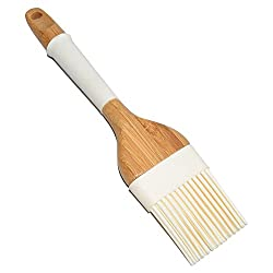St.Millers Silicone Brush With Wooden Handle, 1Pc, Cream