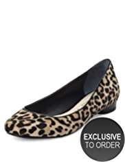 Autograph Ponyskin Slip-On Animal Print Pumps
