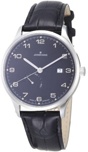 Junghans 027/4782.00 - Reloj analógico automático para hombre, correa de cuero color negro