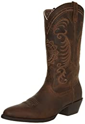 Ariat Women\'s Magnolia Western Cowboy Boot, Distressed Brown, 8 M US