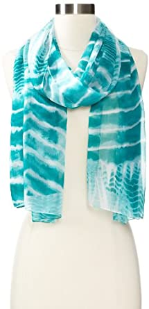 Collection XIIX Women's Stardust Tie Dye Scarf, Teal Waters, One Size