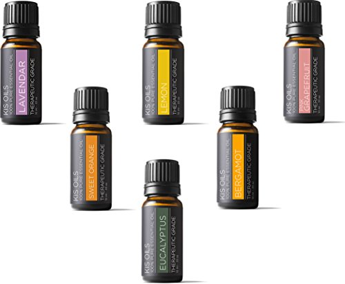 Aromatherapy Fresh Scent Kit 100% Pure Therapeutic Grade Sampler Set Essential Oil Gift Set 10 Ml Bottles (Top 6 Fresh)