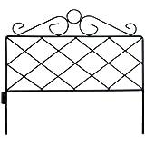 Origin Point 060064 Azalea Classic Decorative Steel Landscape Border Fence Section