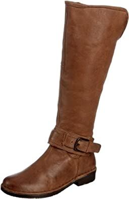 Lotus Arlington Wide Calf Leather Long Boots Tan 9.0