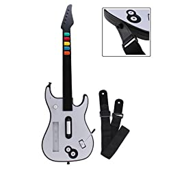 Wireless Guitar Hero Guitar Controller for Nintendo Wii - White