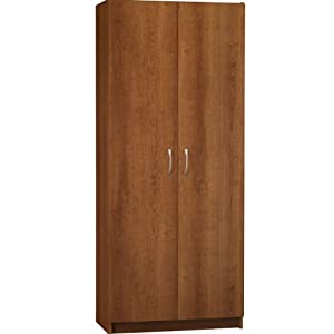 Ameriwood 7348025by Double Door Pantry 30 Inch Wide Cherry Furniture Decor