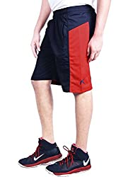 Repugn's Exactor07 Polyester shorts (Navy, Large)