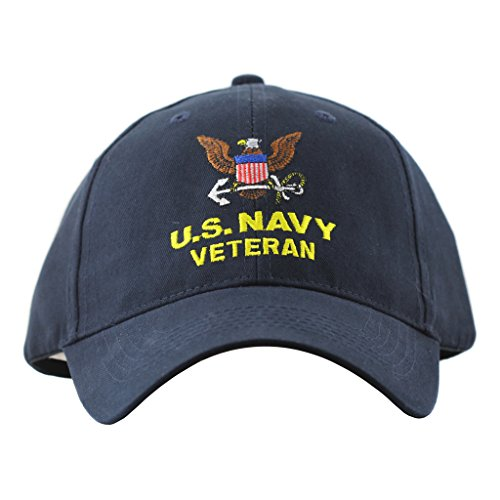 United States Navy Veteran Hat For Men and Women One Size Military Caps