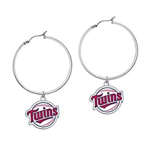 Minnesota Twins MLB Hoop Earrings - GAM-101535