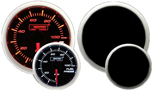 Prosport Performance Series Gauge (Fuel Pressure Gauge (Electric) w sender, Amber White 52mm) (Electric Fuel Gauge compare prices)