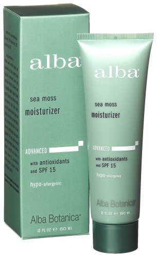Alba Botanica Sea Moss Moisturizer With Spf 15, 2-Ounce Tubes  (Pack Of 2)