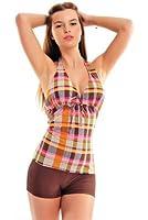 Eleganter Push Up Tankini mit Hotpants/Bikinihose, Badeanzug (oct-flav-1043-1028-f2919)