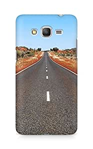 Amez designer printed 3d premium high quality back case cover for Samsung Galaxy Grand Prime (Road)
