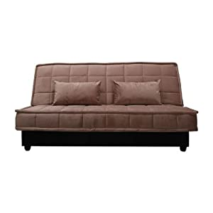 Yoko velvet sofabed with storage 2 seater sofa bed for Sofa bed amazon uk